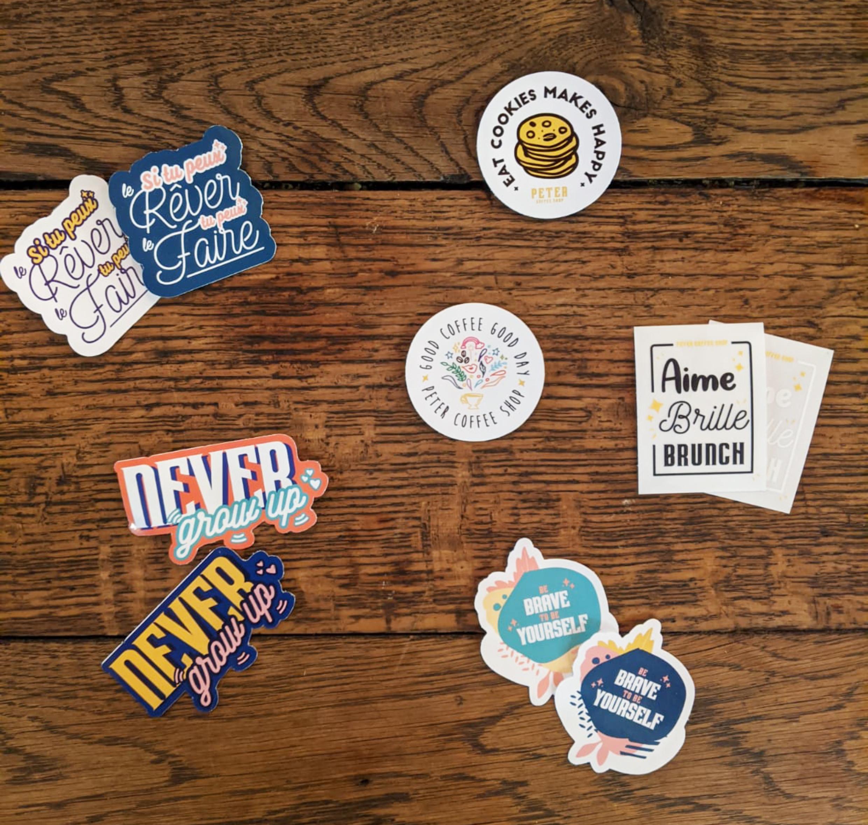 Des stickers, un super moyen de communication